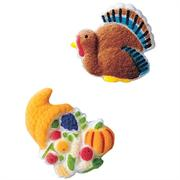Lucks Turkey and Cornucopia Assortment Sugar Decorations