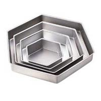 Wilton Performance Hexagon Cake Pan Set, 2 Inch Deep
