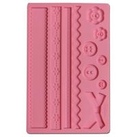 Wilton Fabric Designs Flexible Fondant & Gum Paste Mold