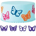 Wilton 4-Pc. Butterflies Cake Stamp Set