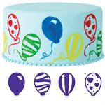 Wilton 4-Pc. Balloons Cake Stamp Set