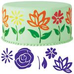 Wilton 6-Pc. Flowers Cake Stamp Set