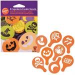 Halloween Cupcake & Cookie Stencils 8-pc Set