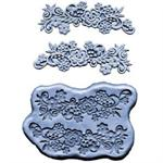 CK Products Flowers With Scrolls Lace Silicone Mold