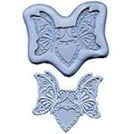 CK Products Butterfly Heart Lace Silicone Mold