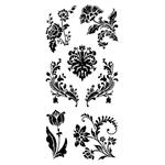 Inkadinkado Clear Stamp Floral Damask Set