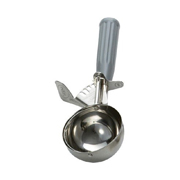 Winco NSF Thumb Press Food Disher - #8 Grey