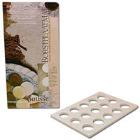 Patisse 15 Cavity Round Mint & Chocolate Disc Mold