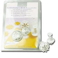 Patisse 2 Piece Flower Plunger Cutter Set