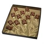 Rosebud Spray 2 Piece Candy Box With Gold Insert
