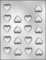 Plain Heart Mini Pieces Chocolate  Mold