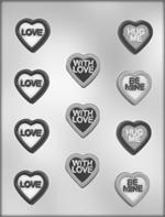 Heart with Messages Pieces Chocolate Mold
