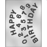 CK Products Happy Birthday Numbers Chocolate Mold