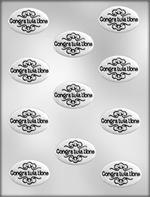 Congratulations With Filigree Chocolate Mold
