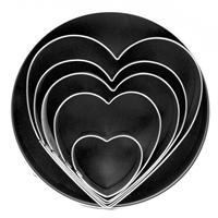 Fox Run 5 Piece Heart Cutter Set