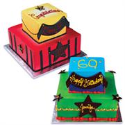 Black Stars And Banner Cake Kit