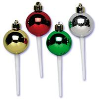 ornaments cupcake picks