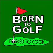 Funny Apron Company Born to Golf Adult Apron