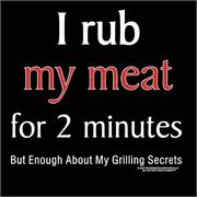 Funny Apron Company I Rub My Meat For 2 Minutes Adult Apron