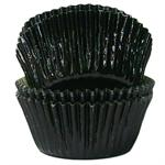 Black Foil Mini #5 Baking & Candy Cup With Greaseproof Liner