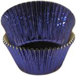 Blue Foil Mini #5 Baking & Candy Cup With Greaseproof Liner
