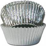 Silver Foil Mini #5 Baking & Candy Cup With Greaseproof Liner