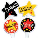 Believe Grad Cupcake Picks