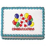 Lucks Congratulations Grad Hats Sugar Wafer