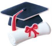 Lucks Grad Cap & Scroll  Sugar Decorations