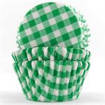 TBK Green Gingham Baking Cups