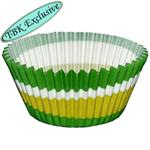Green Swirl Design Baking Cups