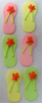 TBK Flip Flops Gumpaste Decorations