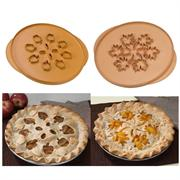 Apples & Leaves Double-Sided Pie Top Cutter