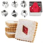 Square Linzer Cutter Set