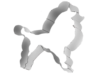 TBK Poodle  Cookie Cutter