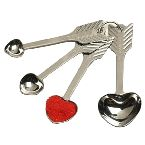 RSVP Endurance 4-Pc. Heart Measuring Spoon Set