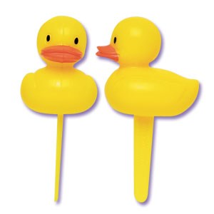 Bakery Crafts Yellow Rubber Ducky 3-D Cupcake Picks