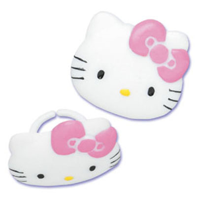 Bakery Crafts Hello Kitty Face Rings