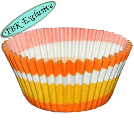 TBK Orange Swirl Design Baking Cups