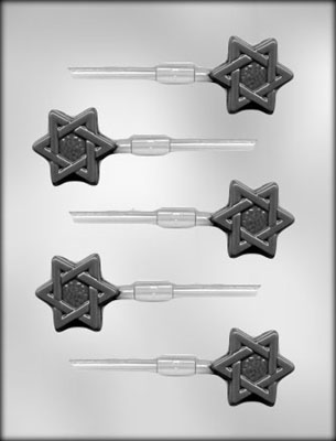 CK Products Star Of David Chocolate Sucker Mold