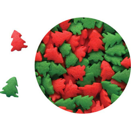 TBK Red & Green Trees Shaped Sprinkles