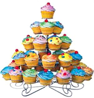 Wilton 38 Count Standard Cupcakes 'N More Dessert Stand