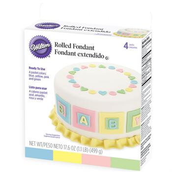 Wilton Rolled Fondant Pastel Colors Multi-Pack