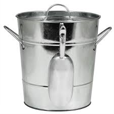 Galvanized Ice Bucket with Scoop
