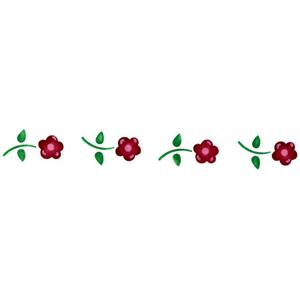 Baby Pansies Border Cake Stencil 6in x 16in