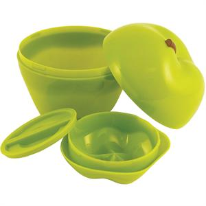 Hutzler Snack Attack Apple & Dip To Go Lunch Box, Green