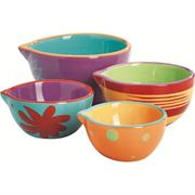 Anchor Hocking 4 Piece Ceramic Nesting Prep Bowl Set