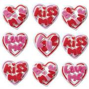 Lucks Talking Hearts Sugar Decorations