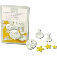 Patisse 3 Piece Star Flower Plunger Cutter Set