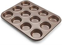 Chicago Metallic Bronze 12 Cup Muffin Pan